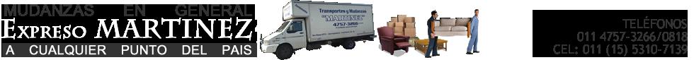 Mudanzas Martinez Mudadora y Logistica al 4757-3266